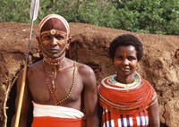 Maasai Couple in Traditional Dress, Kenya by Bill Bachmann - various sizes