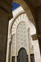 Archway detail, Hassan II Mosque, Casablance, Morocco by Walter Bibikow - various sizes