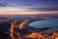 MOROCCO, AGADIR, Boulevard Mohammed V, Coastline Fine Art Print