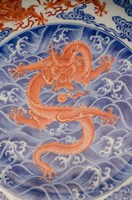 Large plate with dragon and cloud design, Shanghai, China by Cindy Miller Hopkins - various sizes