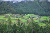 Houses and Farmlands in the Phobjikha Valley, Bhutan by Keren Su - various sizes