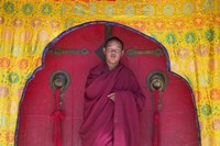 Monks in Sakya Monastery, Tibet, China Fine Art Print