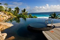 Infinity pool at resort on Fregate Island, Seychelles by Alison Wright - various sizes