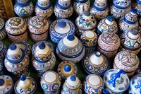 Morocco, Casablanca, market pottery by Cindy Miller Hopkins - various sizes