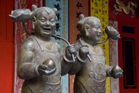 Pair of statues, Goddess of Mercy temple, Repulse Bay, Hong Kong by Cindy Miller Hopkins - various sizes