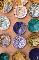 Moroccan Plates, Ensemble Artisanat, Ouarzazate, South of the High Atlas, Morocco Framed Print