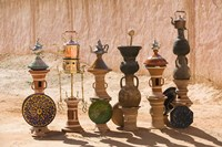 Moroccan vases, Todra Gorge Area, Tinerhir, Morocco by Walter Bibikow - various sizes, FulcrumGallery.com brand