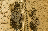 MOROCCO, Fes, Jdid, Royal Palace, moorish door detail by Walter Bibikow - various sizes