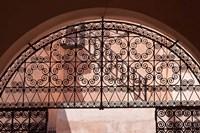 Moorish architecture, iron gate Rabat medina, Morocco Fine Art Print