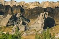 Madagascar, Isalo National Park, Eroded sandstone Fine Art Print