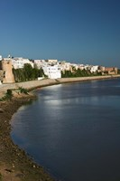 MOROCCO, AZEMMOUR: View from Um, er, Rbia River Fine Art Print