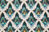MOROCCO, Hassan II Mosque, Islamic Tile Detail Framed Print