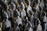 Imperial terra cotta warriors in battle formation Fine Art Print