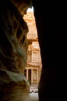 Jordan, Petra, Jordan's Treasury, Ancient Architecture Fine Art Print
