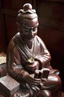Lu Yu statue, Shanghai's Lu Gardens Bazaar teahouse Fine Art Print