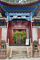 Lion Sculptures, The Confucious Temple Entry Gate, Mojiang, Yunnan, China by Charles Crust - various sizes
