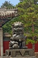 Lion statue, Forbidden City, Beijing, China Fine Art Print