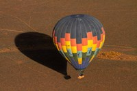Hot air balloon over Namib Desert, near Sesriem, Namibia, Africa. by David Wall - various sizes, FulcrumGallery.com brand