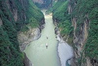Landscape of Daning River through Steep Mountains, Lesser Three Gorges, China by Keren Su - various sizes - $41.99