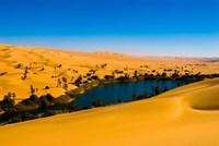 Libya, Fezzan, desert Erg Ubari, Umm el Maa lake by Aldo Pavan - various sizes