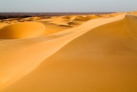 Mauritania, Adrar, Amatlich, View of the desert Fine Art Print