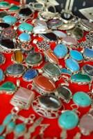Mauritania, Adrar, Chinguetti, Stones and jewellery Fine Art Print