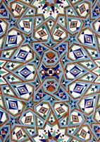 Morocco, Hassan II Mosque mosaic, Islamic tile detail Fine Art Print
