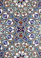 Morocco, Hassan II Mosque mosaic, Islamic tile detail Fine Art Print