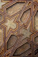 Intricate Ceiling Design, Morocco Fine Art Print