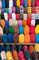 Leather slippers, Medina Fes, Middle Atlas, Morocco Fine Art Print