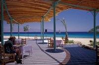 Hotel Coral Hilton Restaurant on the Red Sea, Egypt Fine Art Print