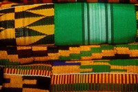 Kente Cloth, Artist Alliance Gallery, Accra, Ghana Fine Art Print