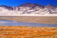 Landscape of Mt Kunlun and Karakuli Lake, Silk Road, China Fine Art Print