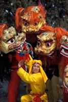 Lion Dance Celebrating Chinese New Year, Beijing, China by Keren Su - various sizes