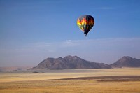 Hot air balloon over Namib Desert, Africa Fine Art Print