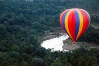 Kenya, Maasai Mara, Mara River, Hot-Air Ballooning Fine Art Print