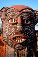 Painted Geometric Mask Zimbabwe