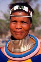 Portrait of Ndembelle Woman, South Africa Fine Art Print