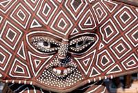 Painted Geometric Mask, Zimbabwe Fine Art Print
