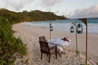 Private dinner on the beach at Banyan Tree Resort, Mahe Island, Seychelles by Alison Wright - various sizes - $40.99