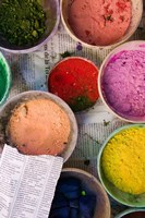 Natural Dyes, The Souqs of Marrakech, Marrakech, Morocco by Walter Bibikow - various sizes, FulcrumGallery.com brand