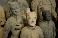 Ranks and uniroms of terra cotta warrior figures Fine Art Print