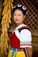 Naxi Minority Woman in Traditional Ethnic Costume, China by Charles Crust - various sizes