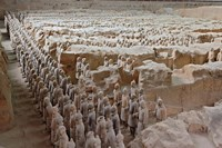 Museum of Qin Terra Cotta Warriors and Horses, Xian, Lintong County, Shaanxi Province, China Fine Art Print