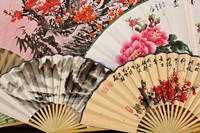 Paper fans, Fuli Village paper fan workshops, Yangshuo, China Fine Art Print