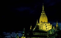 Night View of Ananda Pahto, Myanmar Fine Art Print