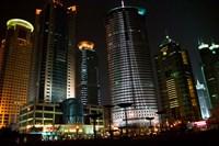 Night View of Highrises, Shanghai, China by Keren Su - various sizes