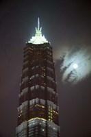 Night View of Jinmao Building, Shanghai, China Fine Art Print