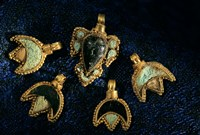 Necklace Adornments, Gold Artifacts From Tillya Tepe Find, Six Tombs of Bactrian Nomads Fine Art Print