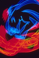 Red and Blue Neon Lighting with Nightzoom Fine Art Print